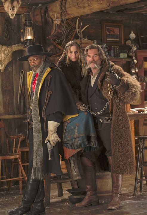 Les Huit salopards : Photo Jennifer Jason Leigh, Kurt Russell, Samuel L. Jackson