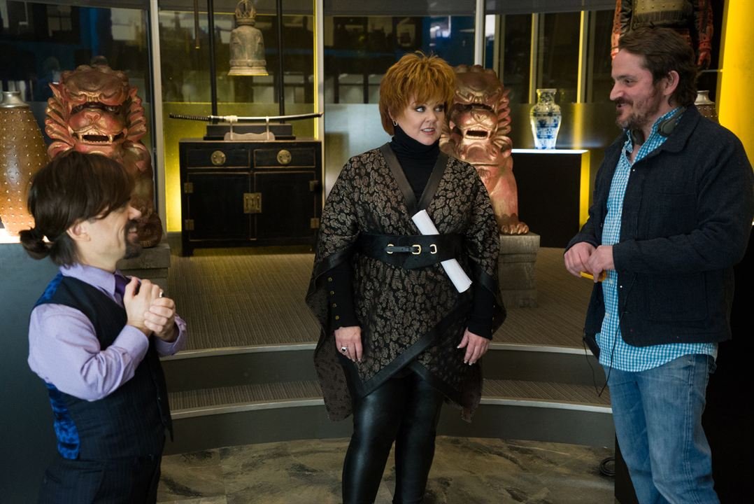 The Boss : Photo Ben Falcone, Melissa McCarthy, Peter Dinklage