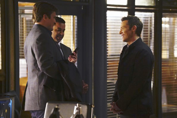 Photo Jon Huertas, Nathan Fillion, Seamus Dever