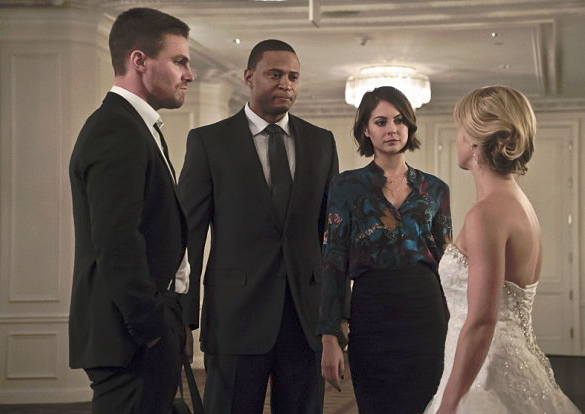 Photo David Ramsey, Stephen Amell, Willa Holland