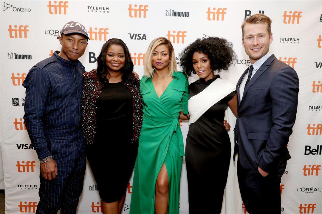 Les Figures de l'ombre : Photo promotionnelle Glen Powell, Janelle Monáe, Octavia Spencer, Pharrell Williams, Taraji P. Henson