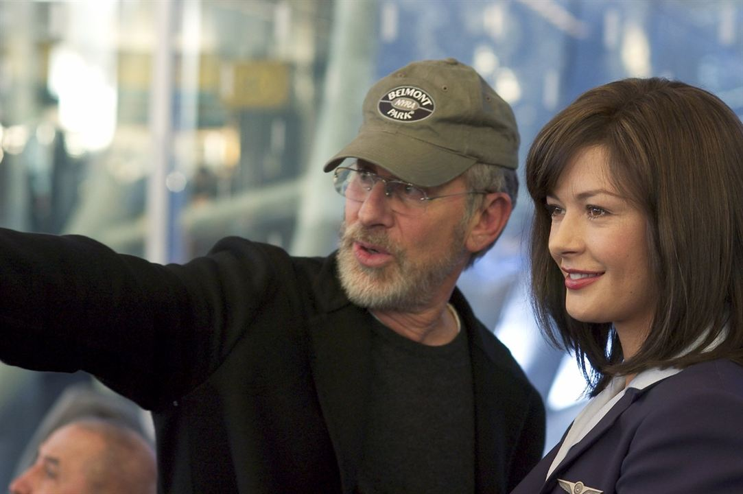 Le Terminal : Photo Catherine Zeta-Jones, Steven Spielberg