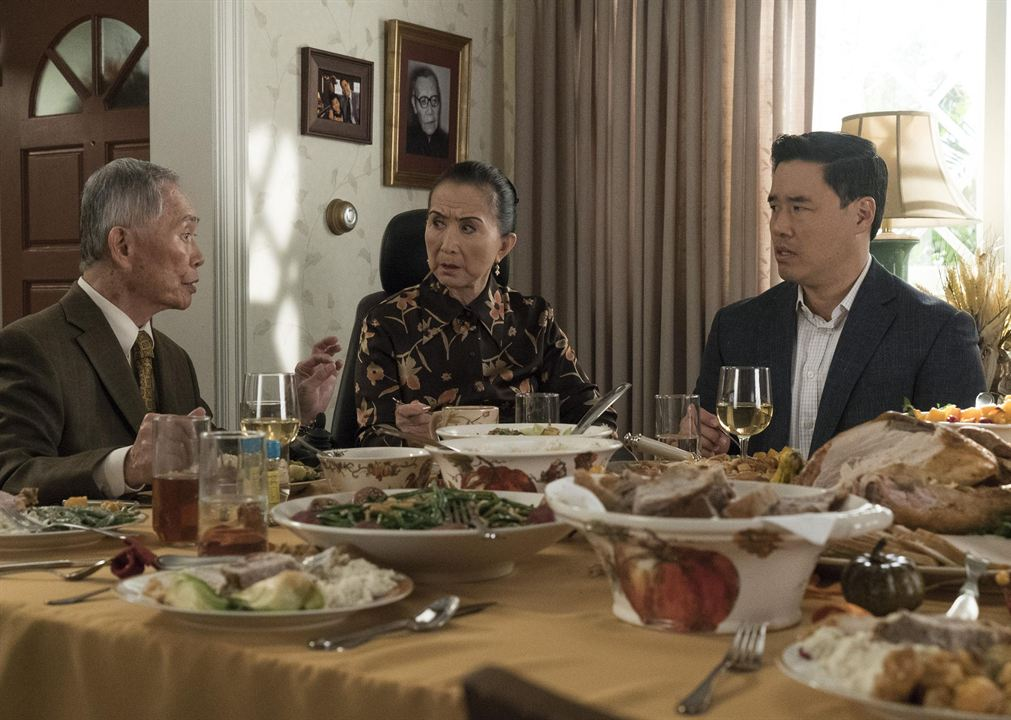 Photo George Takei, Lucille Soong, Randall Park