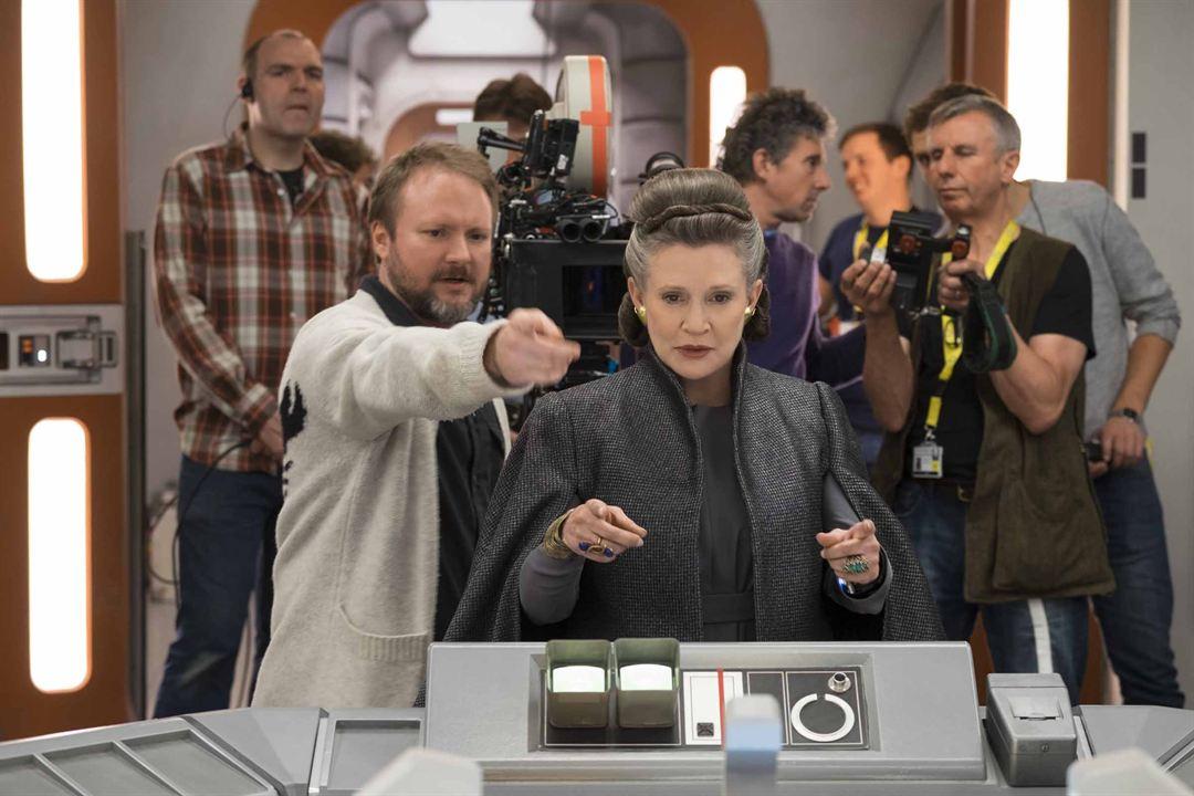 Star Wars - Les Derniers Jedi : Photo Carrie Fisher, Rian Johnson