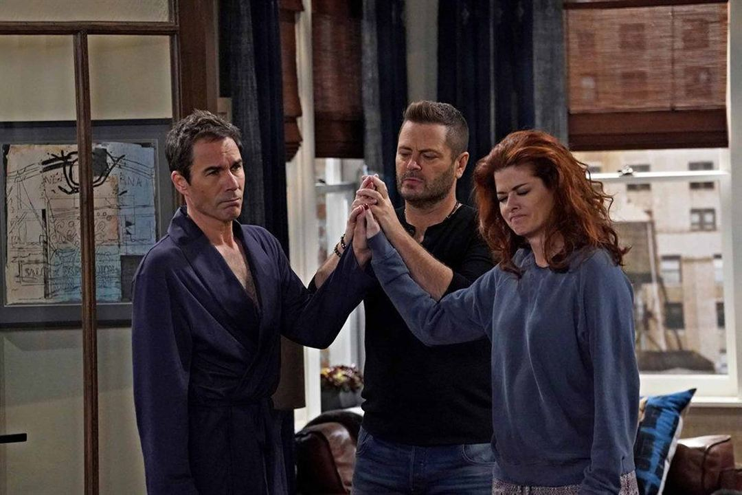 Photo Debra Messing, Eric McCormack, Nick Offerman
