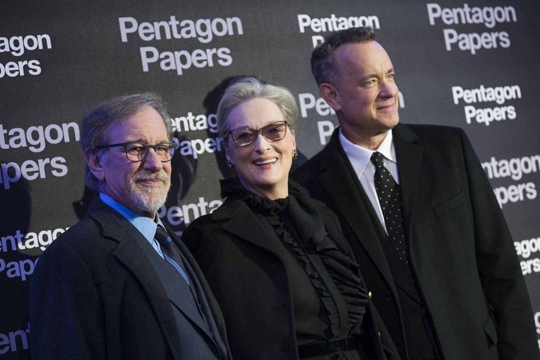Pentagon Papers : Photo promotionnelle Meryl Streep, Steven Spielberg, Tom Hanks