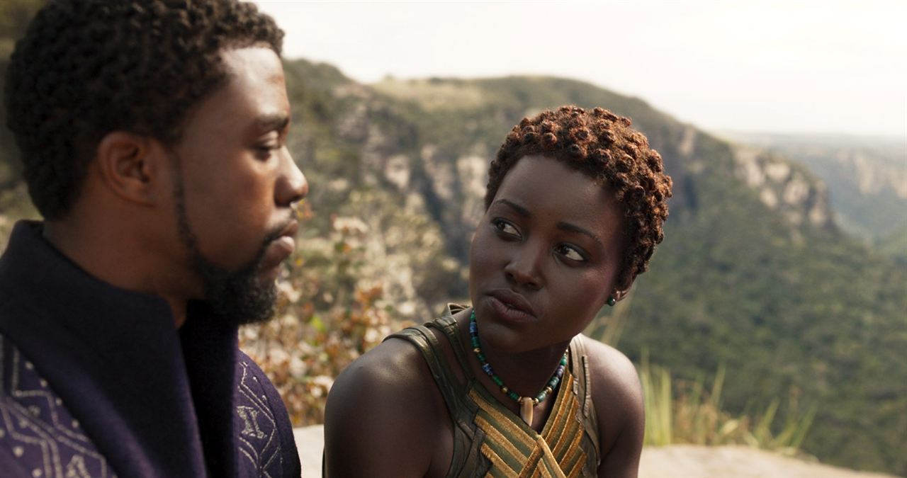 Black Panther : Photo Chadwick Boseman, Lupita Nyong'o