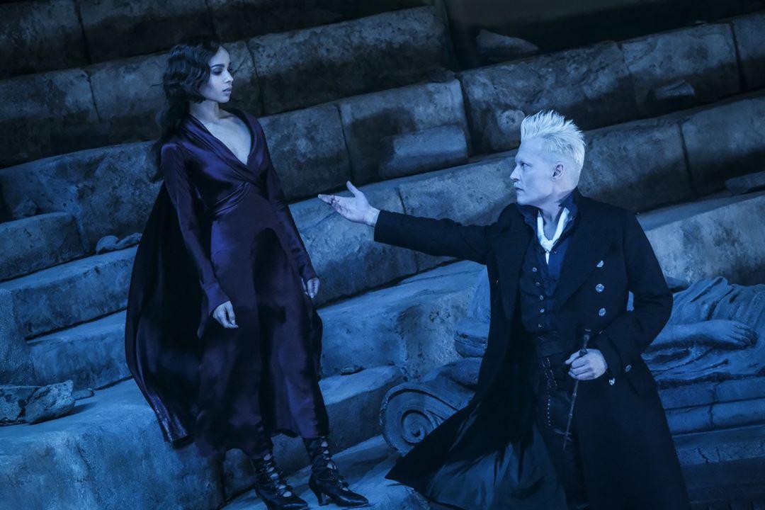 Les Animaux fantastiques : Les crimes de Grindelwald : Photo Johnny Depp, Zoë Kravitz