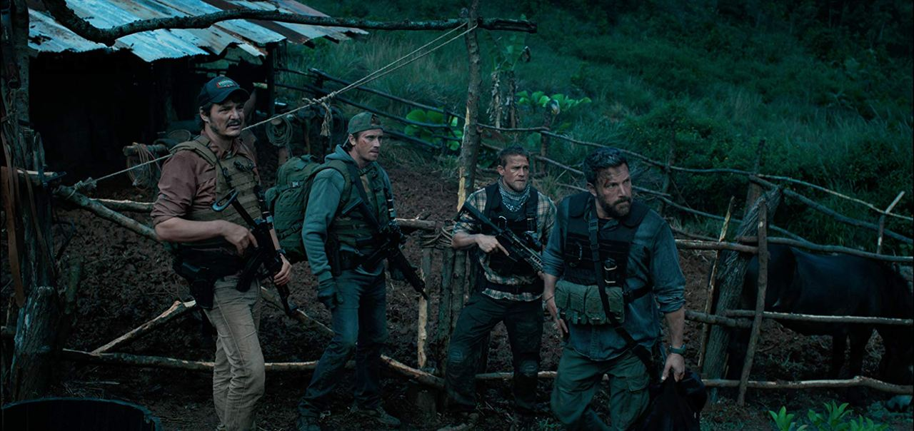 Triple frontière : Photo Ben Affleck, Charlie Hunnam, Garrett Hedlund, Pedro Pascal