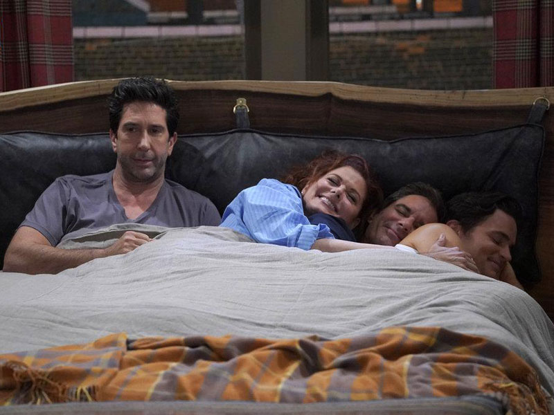 Photo David Schwimmer, Debra Messing, Eric McCormack, Matt Bomer
