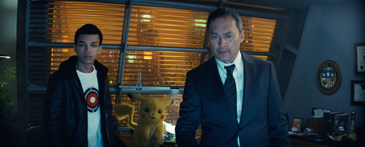 Pokémon Détective Pikachu : Photo Justice Smith, Ken Watanabe