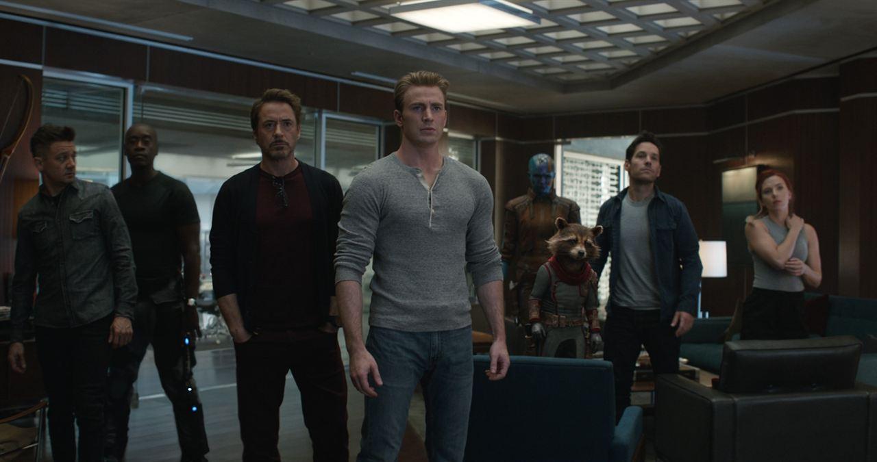 Avengers: Endgame : Photo Chris Evans, Don Cheadle, Jeremy Renner, Karen Gillan, Paul Rudd