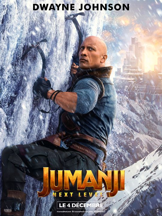 Jumanji: next level : Affiche Dwayne Johnson