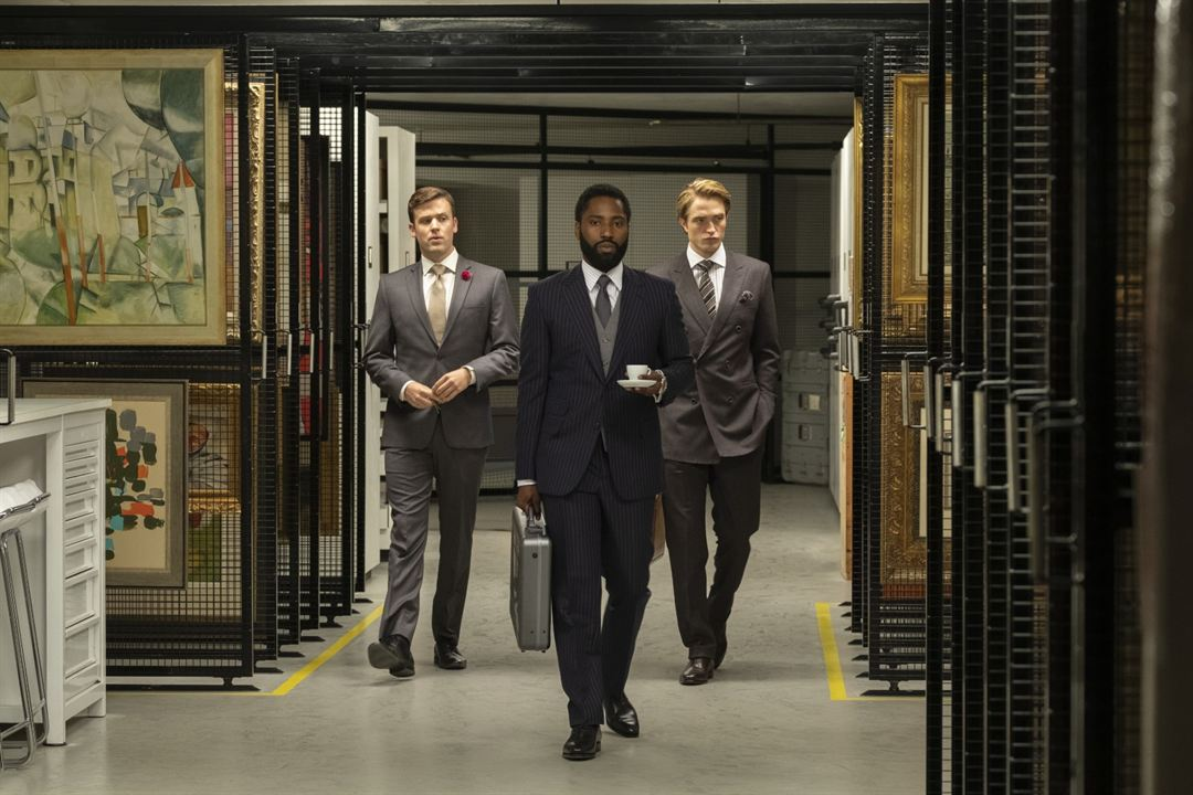 Tenet : Photo Jack Cutmore-Scott, John David Washington, Robert Pattinson