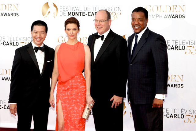 Photo Elizabeth Tulloch, Reggie Lee, Russell Hornsby