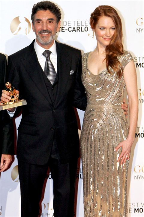 Photo Chuck Lorre, Darby Stanchfield