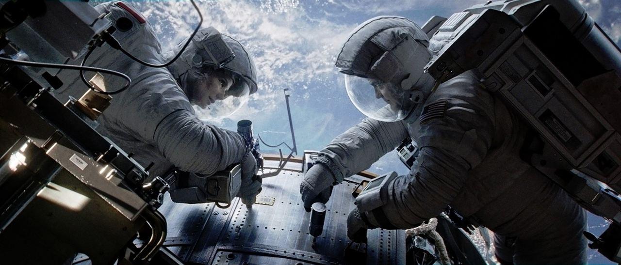 Gravity : Photo George Clooney, Sandra Bullock