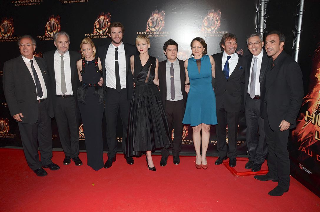 Hunger Games - L'embrasement : Photo promotionnelle Elizabeth Banks, Francis Lawrence, Jennifer Lawrence, Josh Hutcherson, Liam Hemsworth