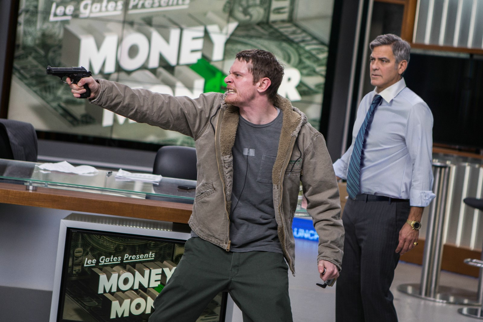 Money Monster - Jack O'Connell et George Clooney