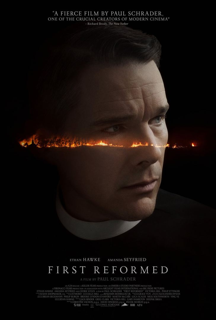 Affiche US du film FIRST REFORMED avec Ethan Hawke