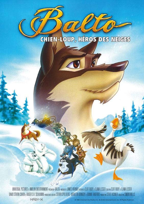 Balto chien-loup, héros des neiges de Simon Wells France