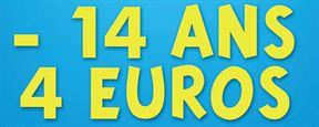 4 euros pour les moins de 14 ans : 8 millions d'entrées en plus
