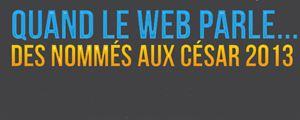 Quand le web parle des nommés aux César 2013 : l'infographie.