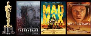 Oscars 2016 : The Revenant, Seul sur Mars et Mad Max Fury Road en tête des nominations