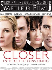 Closer, entre adultes consentants affiche