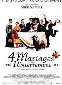 Quatre mariages et un enterrement affiche
