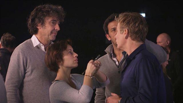 Sur le tournage des Beaux malaises avec Franck Dubosc et Eric Lavaine