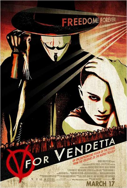 V pour Vendetta : affiche Hugo Weaving, James McTeigue, Natalie Portman