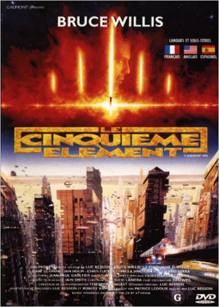 Le Cinqui&#232;me &#233;l&#233;ment : affiche Bruce Willis, Luc Besson