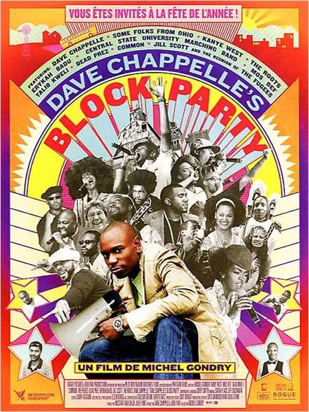 Block Party : affiche Dave Chappelle, Michel Gondry