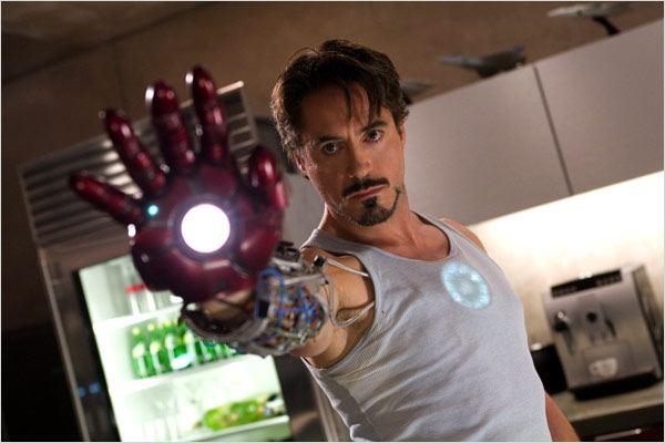Iron Man : Photo Jon Favreau, Robert Downey Jr.