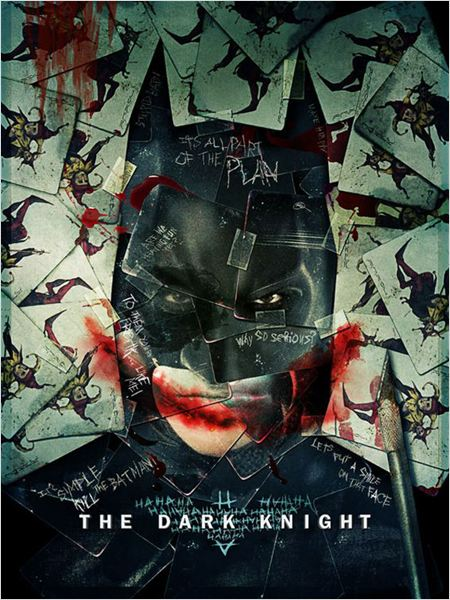 The Dark Knight, Le Chevalier Noir : Affiche Christian Bale, Christopher Nolan