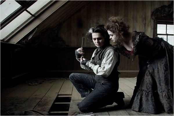 Sweeney Todd, le diabolique barbier de Fleet Street : photo Helena Bonham Carter, Johnny Depp, Tim Burton