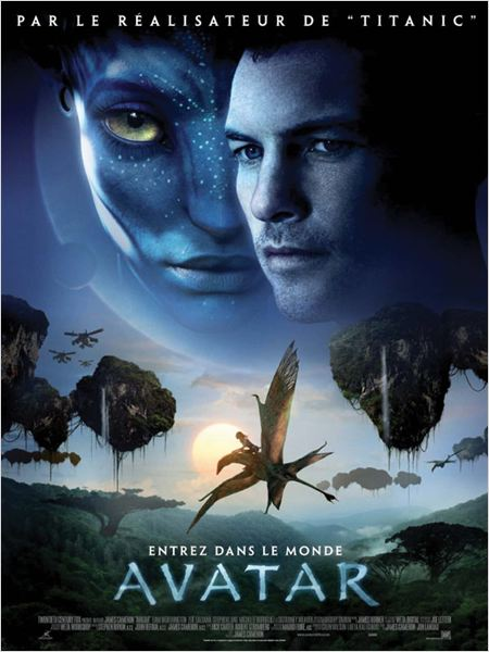 Avatar : affiche James Cameron, Sam Worthington, Zoe Saldana