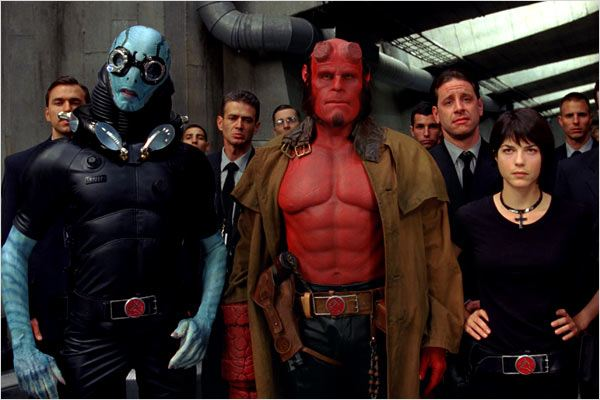 Hellboy II les légions d'or maudites : photo Doug Jones, Guillermo del Toro, Ron Perlman, Selma Blair