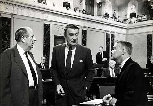 Tempête à Washington : photo Otto Preminger, Walter Pidgeon