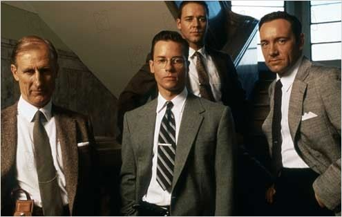 L.A. Confidential : Photo Curtis Hanson, Guy Pearce, James Cromwell, Kevin Spacey, Russell Crowe