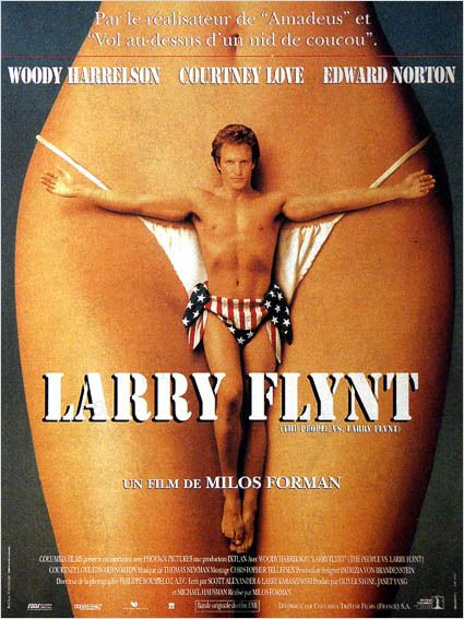 Larry Flynt : affiche Courtney Love, Milos Forman, Woody Harrelson