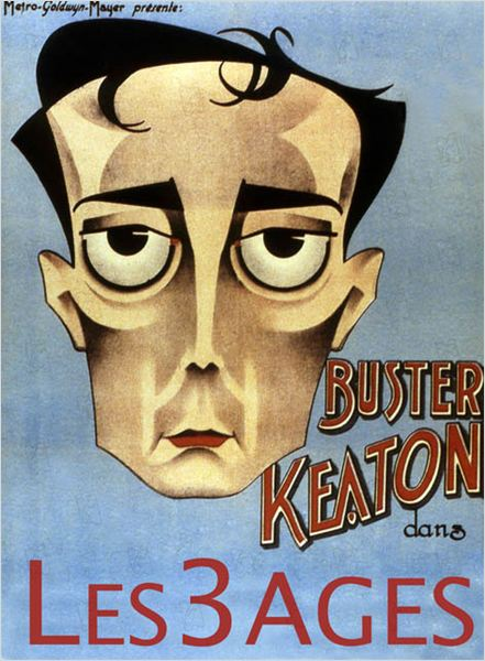 Les Trois Ages : affiche Buster Keaton