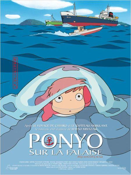 Ponyo sur la falaise : affiche Hayao Miyazaki