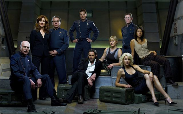 Battlestar Galactica : Photo Edward James Olmos, Grace Park, James Callis, Jamie Bamber, Katee Sackhoff