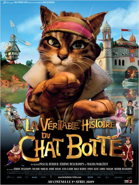La V&#233;ritable histoire du Chat bott&#233; : affiche J&#233;r&#244;me Deschamps, Pascal H&#233;rold