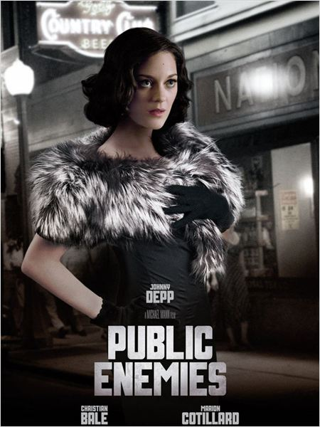 Public Enemies : affiche Marion Cotillard, Michael Mann
