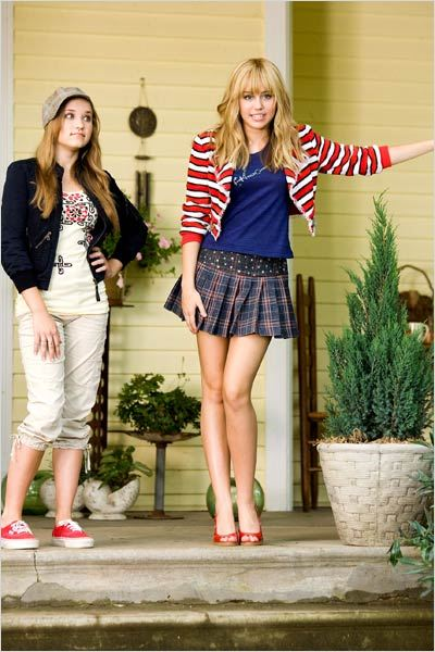Hannah Montana, le film : Photo Emily Osment, Miley Cyrus, Peter