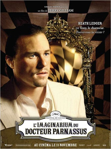 L'Imaginarium du Docteur Parnassus : affiche Heath Ledger, Terry Gilliam