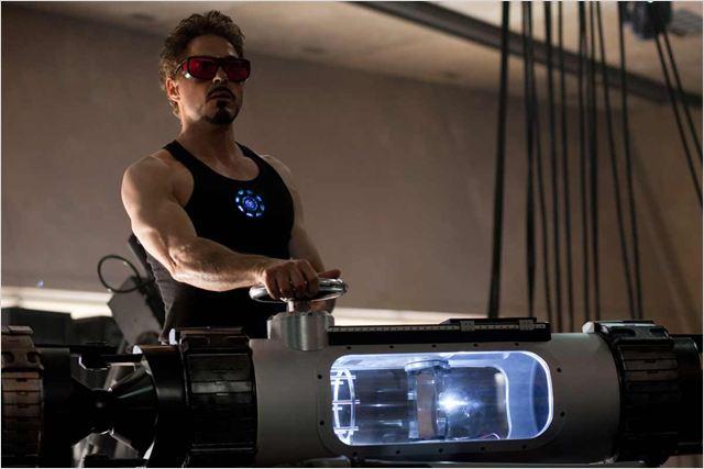 Iron Man 2 : Photo Jon Favreau, Robert Downey Jr.